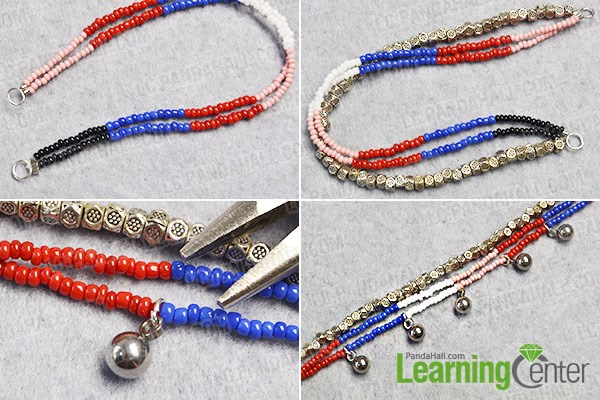 Make other 2 bead strands