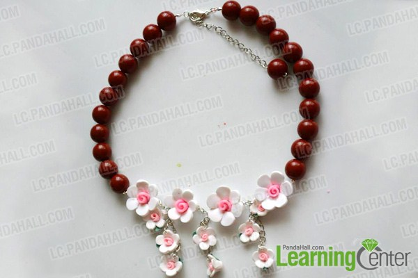complete making polymer clay bead necklace