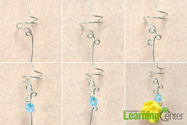 Add beads for making your own flower ear cuff