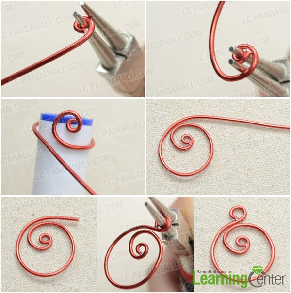 Step 1: Wire wrap spiral Zen pattern