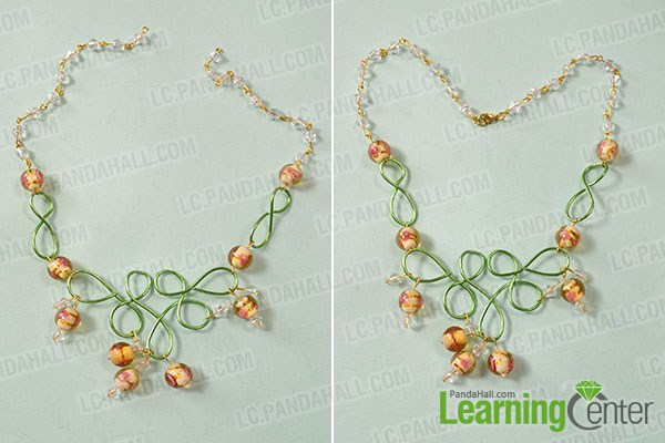 make the rest part of the wire wrapped bead necklace