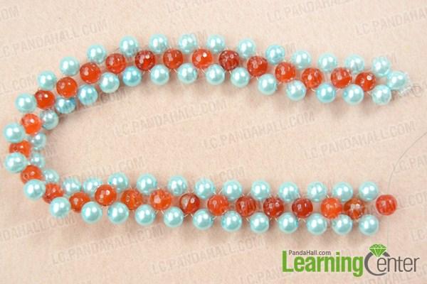 Make basic bead weaving necklace