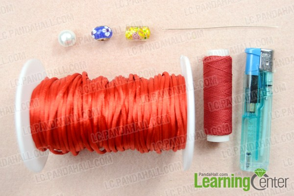 Materials on decorative knot tying guide