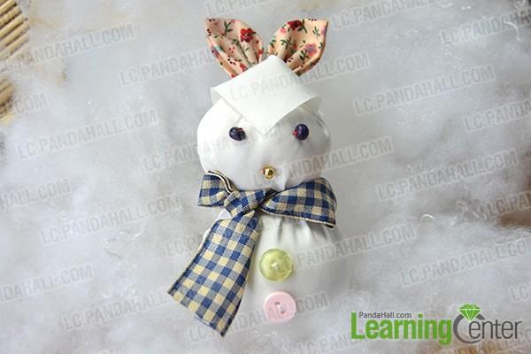 finished cute stuffed bunny