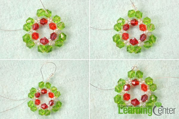 Make the petals for the beaded snowflake