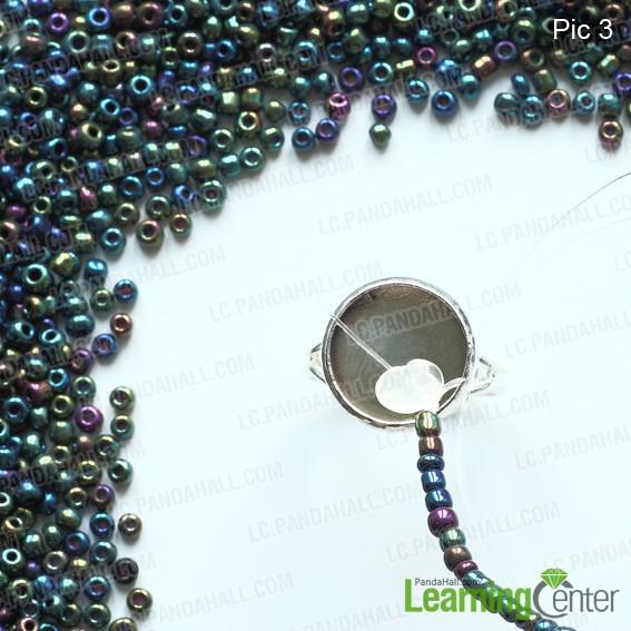 stringing seed beads