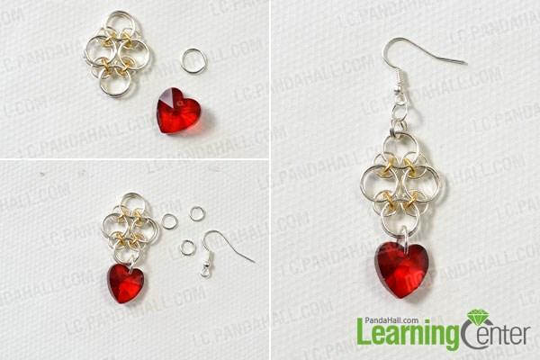 Step 2: Finish the pendant earrings