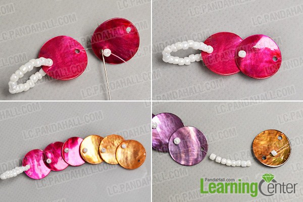 make the second part of the colorful button bracelet