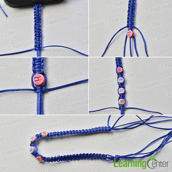 Finish braiding the bracelet