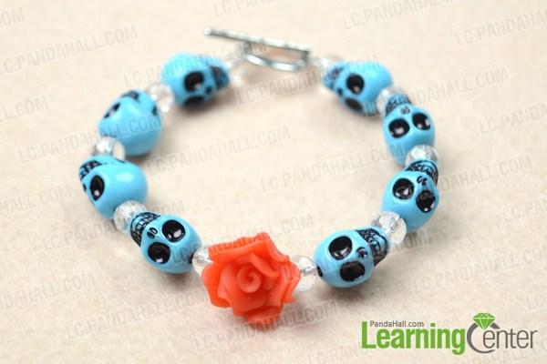 diy turquoise skull bracelet