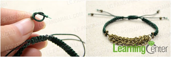 String one spacer bead on each cord end