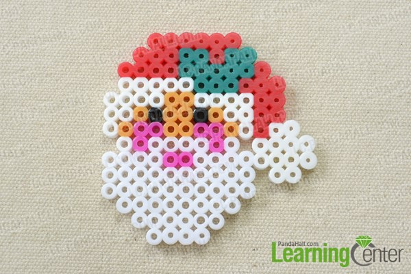 Make the hama bead Santa Claus