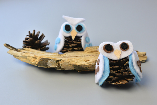 Here is the final look of the cute felt owls:
