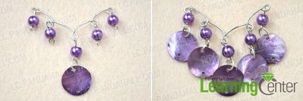 DIY shell chandelier earrings