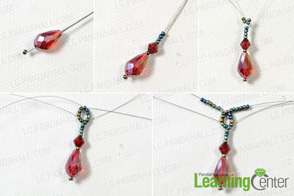 make the nether part of the vintage seed bead necklace