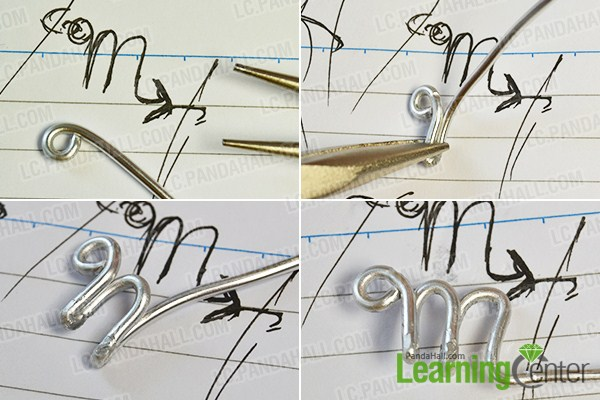 make the first part of the silver scorpio wire wrapped ring