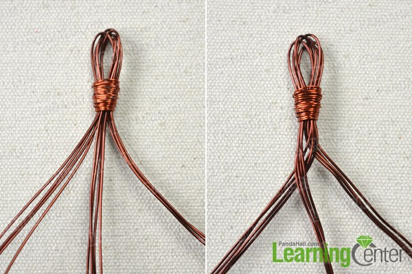 Make the woven copper bracelet