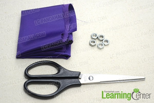 supplies for recycled DIY hex nut bracelet