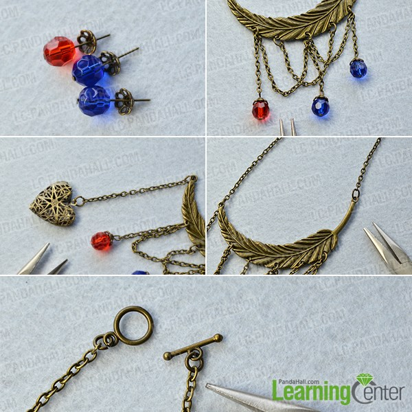 Finish the Tibetan style necklace