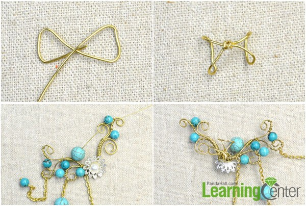 finish the wire flower ear cuff earring