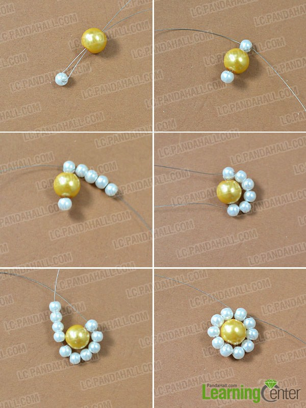 How to Make a Pearl Choker Necklace with Pearl Flower Pendant ...
