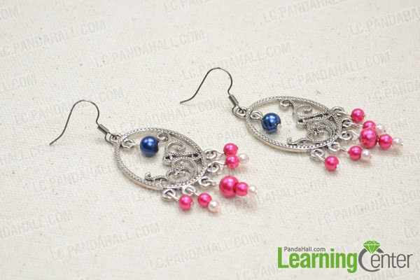 The beaded chandelier earrings look like this: