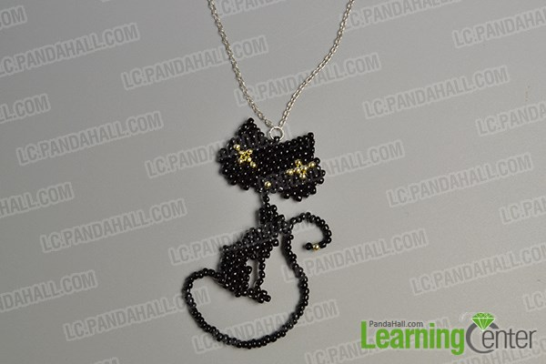 Finish the lovely cat pendant necklace