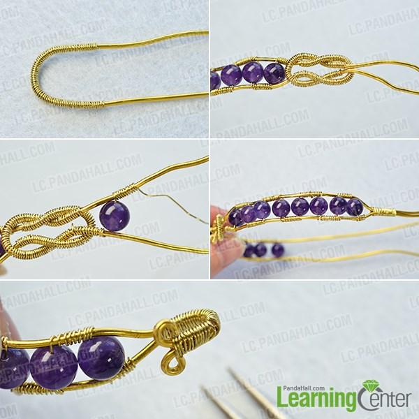Make the corresponding part of the bangle bracelet