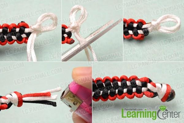 square knot macrame bracelet instructions