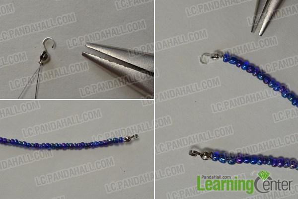 Make the basic seed bead strand