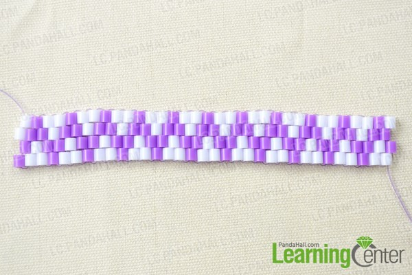Finish perler bead bracelet