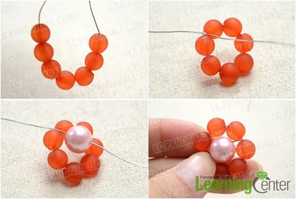 make a beaded loop