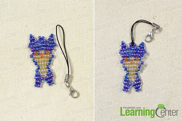 Add a key chain to the beaded elfin