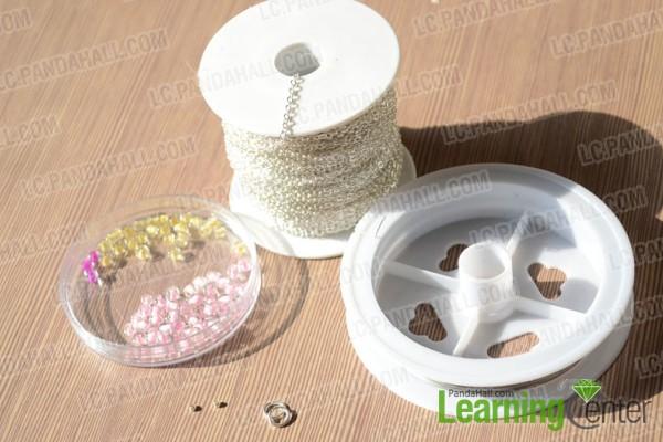 material for making flower beaded bracelet