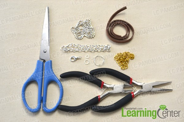 How to Make Cool Braided Chain Bracelet Tutorial materials