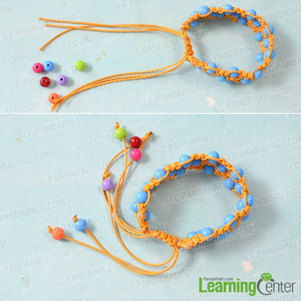 how to make an orange square knot friendship bracelet with