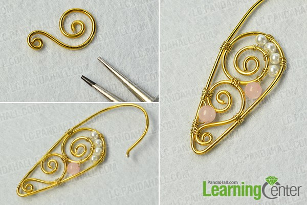 add more beads onto the wire pattern