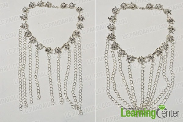make the rest part of the handmade flower and chain body jewelry