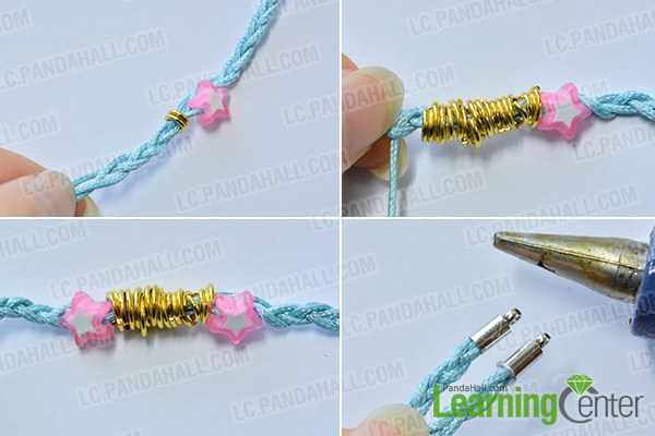 make the first part of the cord and chain bracelets for lovers