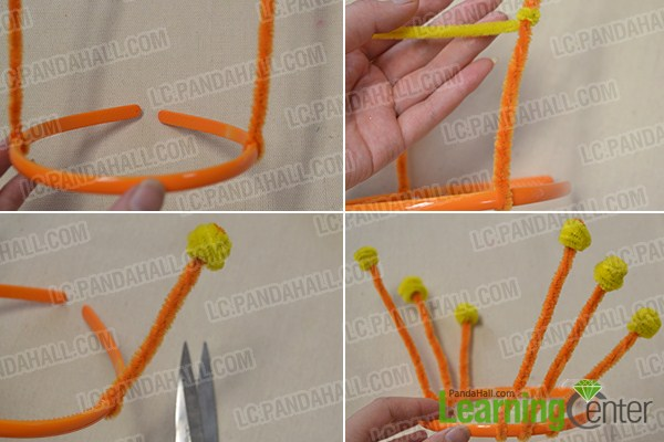 Add some chenille sticks to the hair band