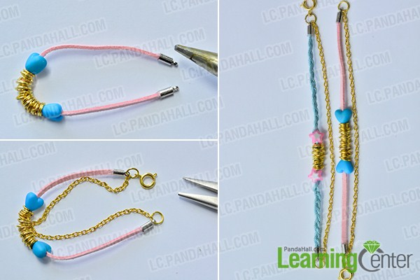 make the rest part of the cord and chain bracelets for lovers