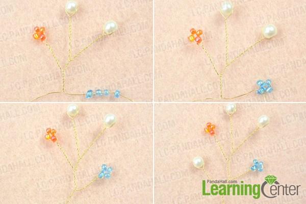 make basic beaded headpiece pattern