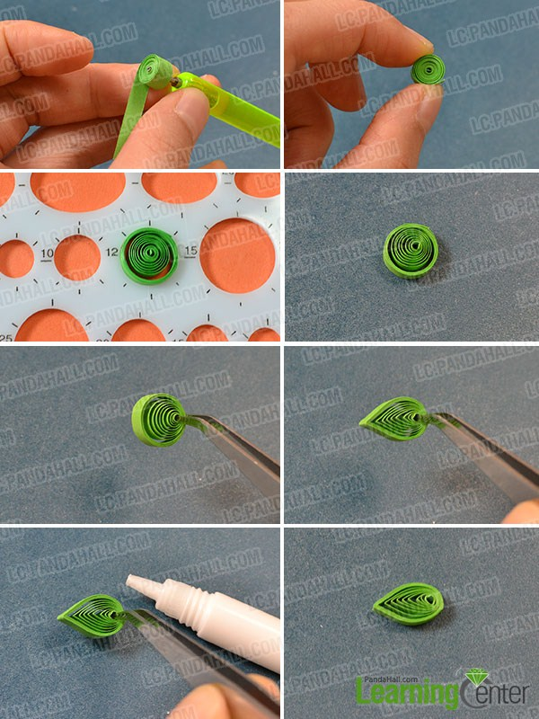 make a white and red circular pattern and 4 green leafs