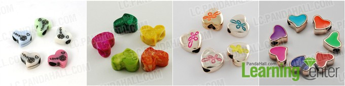 heart shaped beads