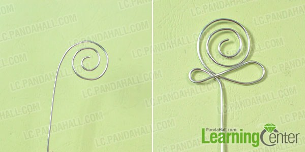 make the body of the wire snail bookmark
