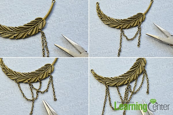 Add chains to a feather link