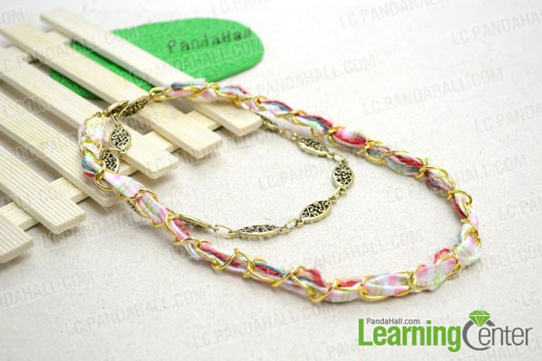 DIY multi strand chain necklace