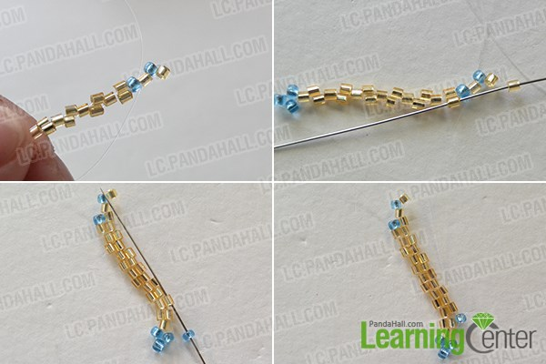 Step 2: Continue to add seed beads