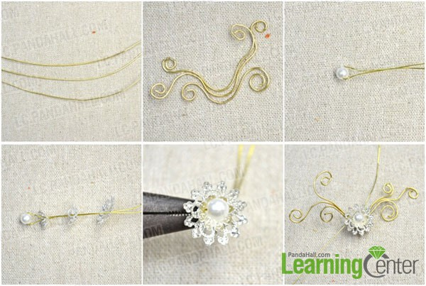 make the basic frame of the flower ear cuff earring