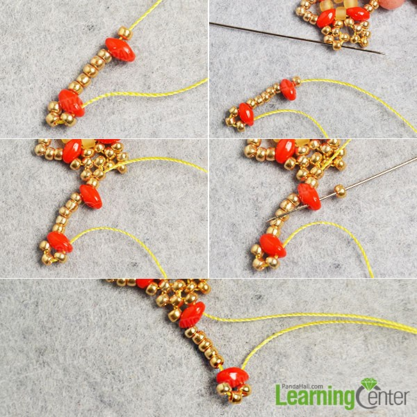 Make a corresponding part of the bead patterns